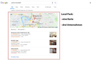 Local Pack bei Google